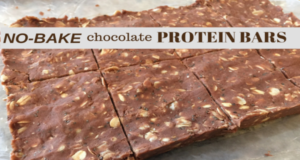 HEALTHY NO BAKE CHOCOLATE PROTEIN BARS !